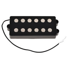Black 6 String Bass Guitar Pickup Humbucker For Music Man Bass Coil Tap