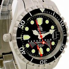 FLY-BACK GMT German-COMBAT-DIVER 60 ATM HELIUM-SAFE T0095