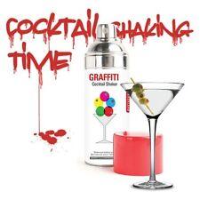 kikkerland Graffiti Spray Can Stainless Cocktail Shaker Strainer BA06 W/ RECIPES