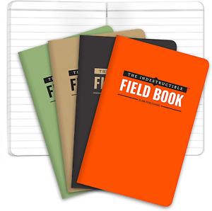 The Indestructible, Waterproof, Tearproof, Weatherproof Field Notebook - - Combo