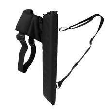 Black Archery Hunting Arrow Back Quiver 3-Tube Bow Arrow Bag Holds 30 Arrows