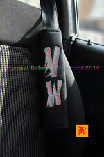 2 Bespoke Seat Belt Shoulder Cover Pads For VW