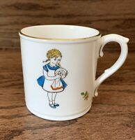 Royal Worcester Birthday Mug Cup Saturday's Child  Works Hard for its Living