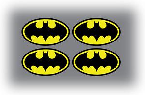 4 x Small Batman Logo Crest Phone Cell Sticker Vinyl Superhero Comic 65mmx37mm