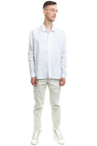 RRP €425 JIL SANDER Shirt Size 39 M Two Tone Pinstripe Long Sleeve Made in Italy
