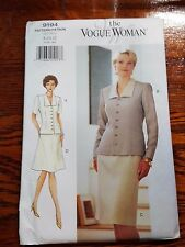 Vintage THE VOGUE WOMAN Very Easy Jacket Skirts Pattern 9194 Sz 8 10 12  UNCUT