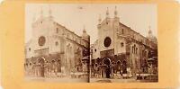 Italia Venezia Basilique Santa Maria Gloriosa Dei Frari ,Stereo Albumina Ca 1870