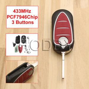 For Alfa Romeo Giulietta 2010-16 3 Button Remote Control Key 433Mhz SIP22 Blade