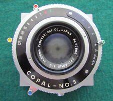 Yamasaki f/9 320mm lens with Copal N0.3 Shutter On A Graphic View II Board 4x5