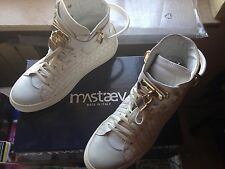 Scarpe Sneakers MASTAEV Uomo High Top Luxury 41 Made In Italy