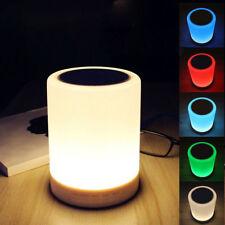 Tragbarer Mini Bluetooth Lautsprecher mit RGB Handy Musik Box LED Lampe Micro SD