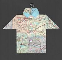 Origami Map Shirt Kansas City, Tulsa, Little Rock, Topeka, Jefferson City