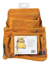 CLC Work Gear  3 in. W x 14.25 in. H Suede  Nail and Tool Pouch Apron  Tan  1 p