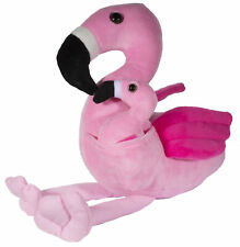 Adorable Mother and Baby Flamingo 14 Inch Long Super Soft Plush Toy