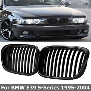Front Hood Kidney Grille Black For BMW 5 Series E39 525/528/530/535/540/M5