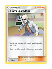 Blaine's Last Stand 52/68 Rare Trainer Pokemon Card - Hidden Fates Shiny Vault