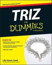 TRIZ FOR DUMMIES - HAINES-GADD, LILLY - NEW PAPERBACK BOOK