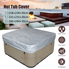 Hot Tub Spa Cover Cap Waterproof Dust Proof Jacuzzi Swim Pool Protector Guard