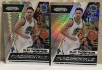 2017-18 Panini Prizm Klay Thompson Fundamentals Silver & Hyper Prizms SP- LOT(2)