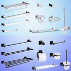 Bathroom Square Hand Towel Rail Rack Toilet Paper Roll Holder Brush Robe Hook