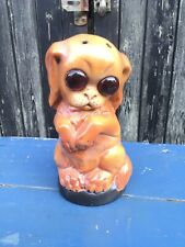 VINTAGE GERMAN ART DECO NIGHT LIGHT PUG DOG PERFUME LAMP BASE SUPERB RARE ITEM