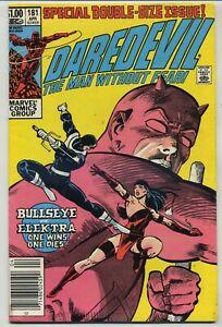 Daredevil 181 Death of Elektra High Grade Newsstand