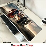 DC Comics Extra Large Gaming Mouse Mat Pad Non-Slip f/ PC Office Laptop 80x30cm