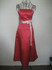WOMENS PROM / BRIDES MAID PINK DRESS WITH BOW  SIZE 10 LENGTH APPROX 44 INCHES