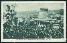 Trieste Città Savoia Nave Audace cartolina QT3066