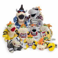 Super Mario Bros Bowser Jr. Dry Bowser Bones, King Koopa Bowser Plush Doll Toys