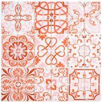 Glasmosaik rot orange Fliesenspiegel Bad Wand Küche WC 68-Retro-SW | 10 Matten