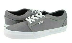 Vans CHUKKA LOW Grey White Suede Skateboarding Discounted (198) Men's Shoes
