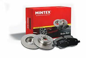 FORD FOCUS 2 MINTEX FRONT 300MM BRAKE DISCS & PADS 11/04-> + FREE GREASE