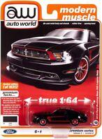 1//64 Auto World 2012 Ford Mustang Boss 302 Laguna Seca Diecast Silver AWSP046-B