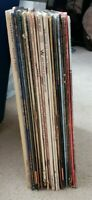 Lot of 22 different Vinyl LP records for listening, crafts, art or decoration