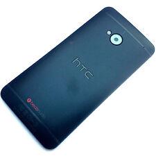 100% Original HTC One M7 + Cubierta Trasera Cámara Cristal Cubierta Posterior de Metal Negro Grado C