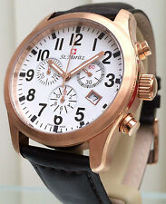 Rotary St Moritz Mens Watch SWISS MADE Chronograph St.Moritz RRP £250 Boxed NEW