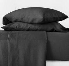 Casaluna 4pc. 100% Linen Sheet Set Queen Washed Black New