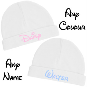 Disney Inspired Personalised Baby Hat for Newborn and 0-3 Months Gift