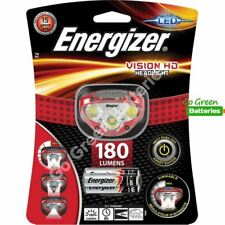 Energizer Vision HD LED Head Torch 180 Lumen Headlight Bright Lamp Light Camping