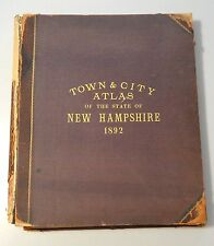 ATLAS OF NEW HAMPSHIRE 1892 Color Maps
