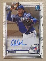 2020 Bowman Chrome 1st Chrome Gabriel Moreno Auto Autograph Blue Jays