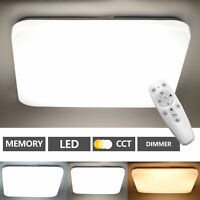 Lámpara De Techo LED Dormitorio con Control Remoto 48W Lámpara Techo Regulable