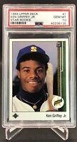 1989 Upper Deck Star Rookie #1 Ken Griffey Jr. Rookie Centered PSA 10 GEM MINT💎