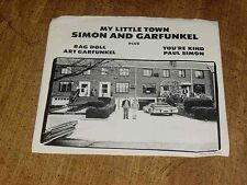 Rare Picture Sleeve Only No Record My Little Town Simon & Garfunkel Rag Doll +