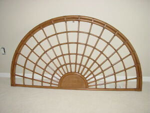 Vintage Bamboo Full/Queen Size Headboard Rattan MCM Modern Cottage Coastal Boho