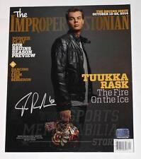 Tuukka Rask Boston Bruins Signed Autographed Improper Bostonian Magazine Cover