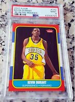 KEVIN DURANT 2007 Fleer 1986 SP Rookie Card RC PSA 9 MINT HOT MVP GS Warriors