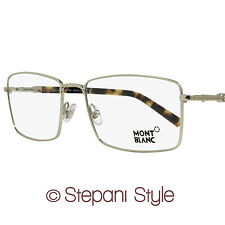Montblanc Rectangular Eyeglasses MB583 016 Size: 58mm Palladium/Havana 583