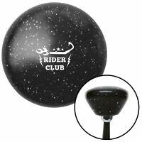 White Rider Club Black Retro Metal Flake Shift Knob w/ M16x1.5 Insert Shifter